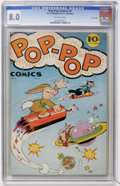 Golden Age (1938-1955):Funny Animal, Pop-Pop Comics #1 Carson City pedigree (R. B. Leffingwell Co.,1945) CGC VF 8.0 Off-white pages....