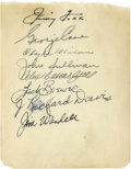 Autographs:Others, Vintage Baseball Stars Signed Album Page with Jimmie Foxx. The Hallof Fame Beast Jimmie Foxx headlines this collection of ...