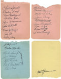 "Autographs:Index Cards, 1942-45 Philadelphia Athletics Team Signed Sheets Lot of 4. Each ofthe 4.5x6"" album pages that we make available here has ..."