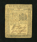 Colonial Notes:Pennsylvania, Pennsylvania April 25, 1776 2s/6d Fine....