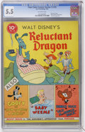 Golden Age (1938-1955):Cartoon Character, Four Color (Series One) #13 Walt Disney's Reluctant Dragon (Dell,1941) CGC FN- 5.5 Off-white pages....