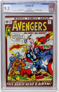 The Avengers #93 (Marvel, 1971) CGC NM- 9.2 White pages
