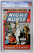 Bronze Age (1970-1979):Romance, Night Nurse #1 (Marvel, 1972) CGC VF/NM 9.0 Off-white to whitepages....