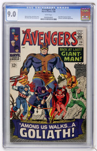 The Avengers #28 (Marvel, 1966) CGC VF/NM 9.0 White pages
