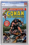 Bronze Age (1970-1979):Miscellaneous, Conan the Barbarian Annual #1 (Marvel, 1973) CGC NM 9.4 Whitepages....