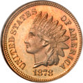 Proof Indian Cents, 1878 1C PR67 Red Cameo NGC....