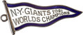 Baseball Collectibles:Others, 1922 New York Giants Silver Season Pass....
