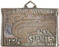 Baseball Collectibles:Others, 1925 New York Giants Silver Season Pass. ...