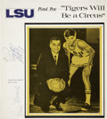 Basketball Collectibles:Others, 1970 Pete & Press Maravich Signed LSU Program Cover....