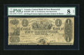 Canadian Currency: , Fredericton, NB- The Central Bank of New Brunswick £1 Oct. 1, 1857 Ch. # 95-10-10-04. ...