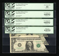 Error Notes:Miscellaneous Errors, Fr. 1912-F $1 1981A Federal Reserve Notes. Four Consecutive Examples.... (Total: 4 notes)