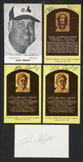 Autographs:Bats, Baseball Hall of Famer Signed Postcards/Index Card (5). ... (Total:5 items)