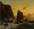 Fine Art - Painting, European:Antique  (Pre 1900), HERMAN MEVIUS (German, 1820-1864). Weathering the Storm, 1848. Oil on canvas. 11-1/4 x 13-1/4 inches (28.6 x 33.7 cm...