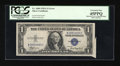 Error Notes:Attached Tabs, Fr. 1608 $1 1935A Silver Certificate. PCGS Extremely Fine 45PPQ.....