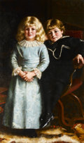 Fine Art - Painting, European:Antique  (Pre 1900), REGINALD MACHELL (British, 1841-1930). Little Angels, 1883.Oil on canvas. 50 x 30 inches (127 x 76.2 cm). Signed and da...