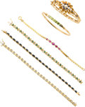 Estate Jewelry:Lots, Multi-Stone, Diamond, Gold Bracelet Lot. ...