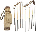 Baseball Collectibles:Others, 1930's Ty Cobb Owned and Used Golf Clubs....