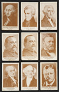"Non-Sport Cards:Sets, 1920's Weber Baking ""Presidents of the United States"" Near Set(22/30)...."