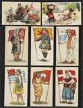 "Non-Sport Cards:Sets, Circa 1916 D58 ""Flags of Nations"" Near Set (25/30) and D41""Historical Picture Cards"" (8). ..."