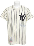 "Autographs:Others, 1990's Joe DiMaggio ""Yankee Clipper"" Signed Jersey...."