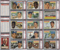 Baseball Cards:Sets, 1956 Topps Baseball PSA-Graded Complete Set Plus Checklists(342)...