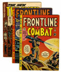 Golden Age (1938-1955):War, Frontline Combat/Two-Fisted tales Group (EC, 1952-54).... (Total: 3Comic Books)