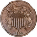 Patterns, 1863 2C Two Cents, Judd-312, Pollock-377, R.4, PR65 Brown NGC....