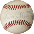 Autographs:Baseballs, New York Yankees Multi-Signed Baseball with Munson. ...