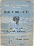 Boxing Collectibles:Autographs, 1960 Olympic (Rome) Boxing Program, Signed by Muhammad Ali. ...