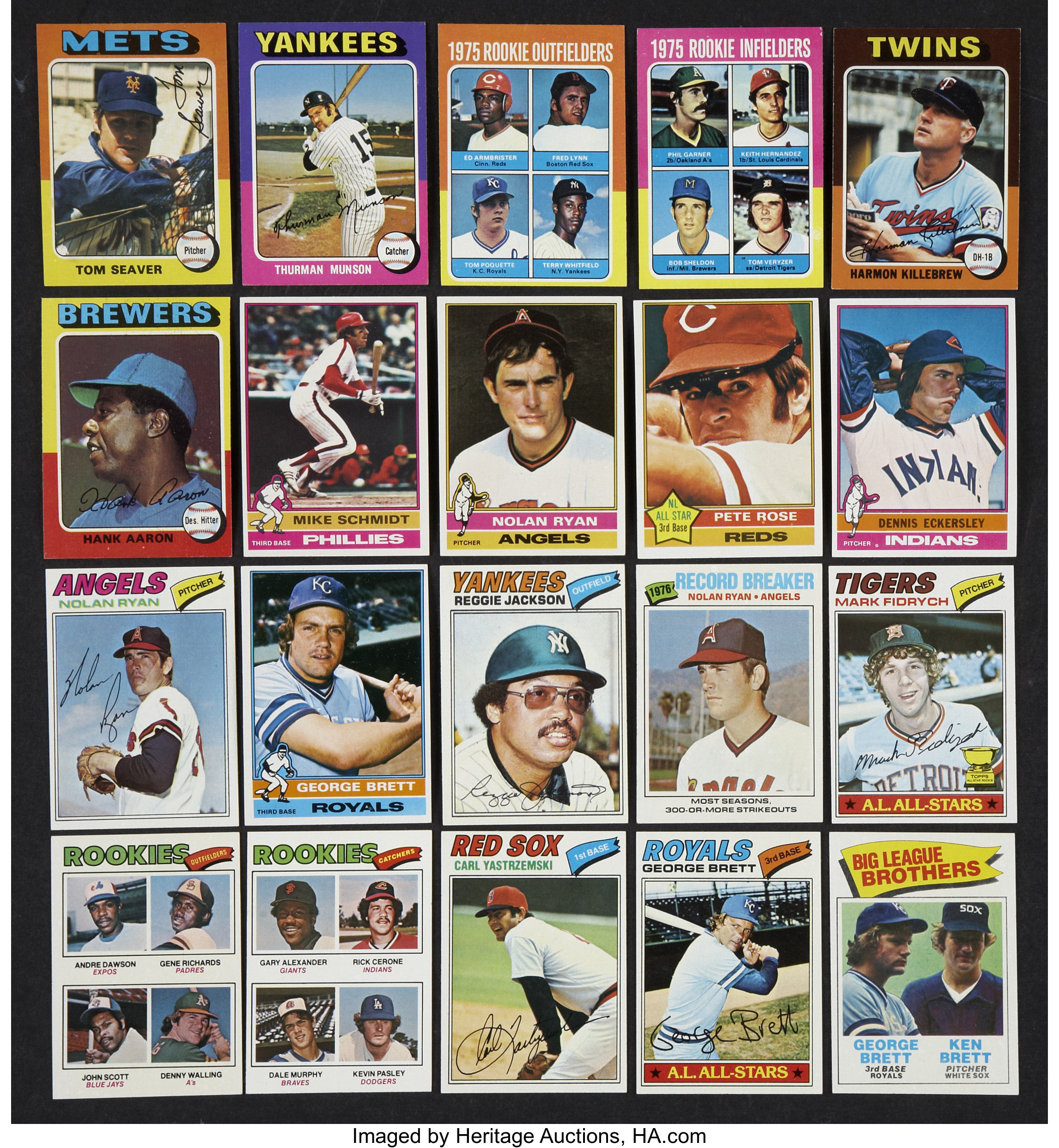 1975 1979 Topps Baseball Card Collection Approximately 2000
