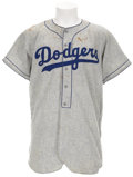 Baseball Collectibles:Uniforms, 1955 Brooklyn Dodgers Game Issued Jersey....