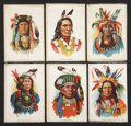 Non-Sport Cards:General, Circa 1910 S67 Indian Chiefs Silks Premiums Complete Set (6)....