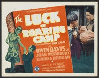 """The Luck of Roaring Camp (Monogram, 1937). Lobby Card Set of 8 (11"""" X 14""""). Western. ... (Total: 8 Items)"""