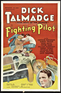 "Movie Posters:Action, The Fighting Pilot (Ajax, 1935). One Sheet (27"" X 41"") and LobbyCards (3) (11"" X 14""). Action.. ... (Total: 4 Items)"