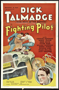 """The Fighting Pilot (Ajax, 1935). One Sheet (27"""" X 41"""") and Lobby Cards (3) (11"""" X 14""""). Action..."""
