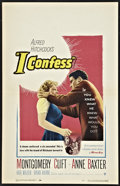 """Movie Posters:Hitchcock, I Confess (Warner Brothers, 1953). Window Card (14"""" X 22"""").Hitchcock.. ..."""