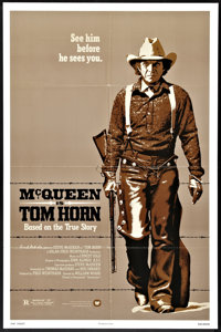 "Tom Horn (Warner Brothers, 1980). One Sheet (27"" X 41"") and Pressbook (11"" X 14""). Western. ... (Tot..."