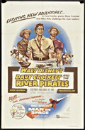 "Movie Posters:Adventure, Davy Crockett and the River Pirates (Buena Vista, 1956). One Sheet(27"" X 41""). Adventure.. ..."