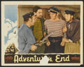"Movie Posters:Adventure, Adventure's End (Universal, 1937). Lobby Card (11"" X 14"").Adventure.. ..."