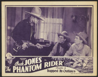 """The Phantom Rider (Universal, 1936). Lobby Cards (2) (11"""" X 14"""") Chapter 5 -- """"Trapped by Outlaws"""" a..."""