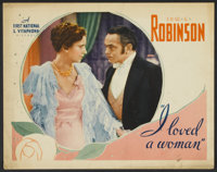 """I Loved a Woman (First National, 1933). Lobby Card (11"""" X 14""""). Drama"""