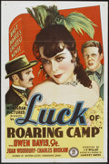 "Movie Posters:Western, The Luck of Roaring Camp (Monogram, 1937). One Sheet (27"" X 41""). Western.. ..."