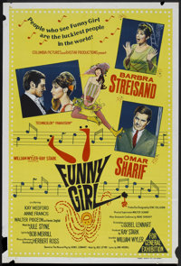"Funny Girl (Columbia, 1968). Australian One Sheet (27"" X 40""). Musical"