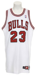 Basketball Collectibles:Uniforms, 1997-98 Michael Jordan Game Worn Jersey....