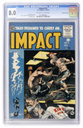 Golden Age (1938-1955):Horror, Impact #5 Gaines File pedigree (EC, 1955) CGC VF 8.0 Off-white towhite pages....