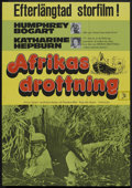 "Movie Posters:Adventure, The African Queen (United Artists, R-1975). German A1 (27"" X 39"").Adventure.. ..."