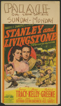 "Movie Posters:Adventure, Stanley and Livingstone (20th Century Fox, 1939). Midget WindowCard (8"" X 14""). Adventure.. ..."