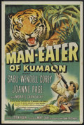 "Movie Posters:Adventure, Man Eater of Kumaon (Universal, 1948). One Sheet (27"" X 41""), TitleLobby Card and Lobby Cards (5). Adventure.. ... (Total: 7 Items)"