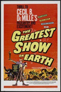 """The Greatest Show On Earth (Paramount, R-1960 and R-1967). One Sheet (27"""" X 41"""") and Lobby Cards (4) (11""""..."""