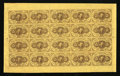 Fractional Currency:First Issue, Fr. 1230 5¢ First Issue Uncut Sheet of Twenty Gem New. ...
